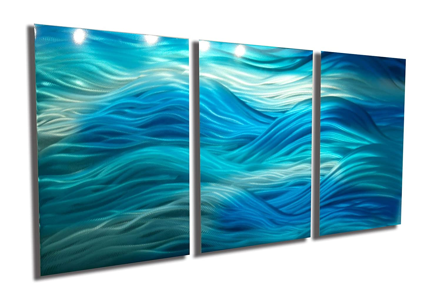 Amazon com miles shay metal wall art modern home decor abstract artwork sculpture caribbean by paintings