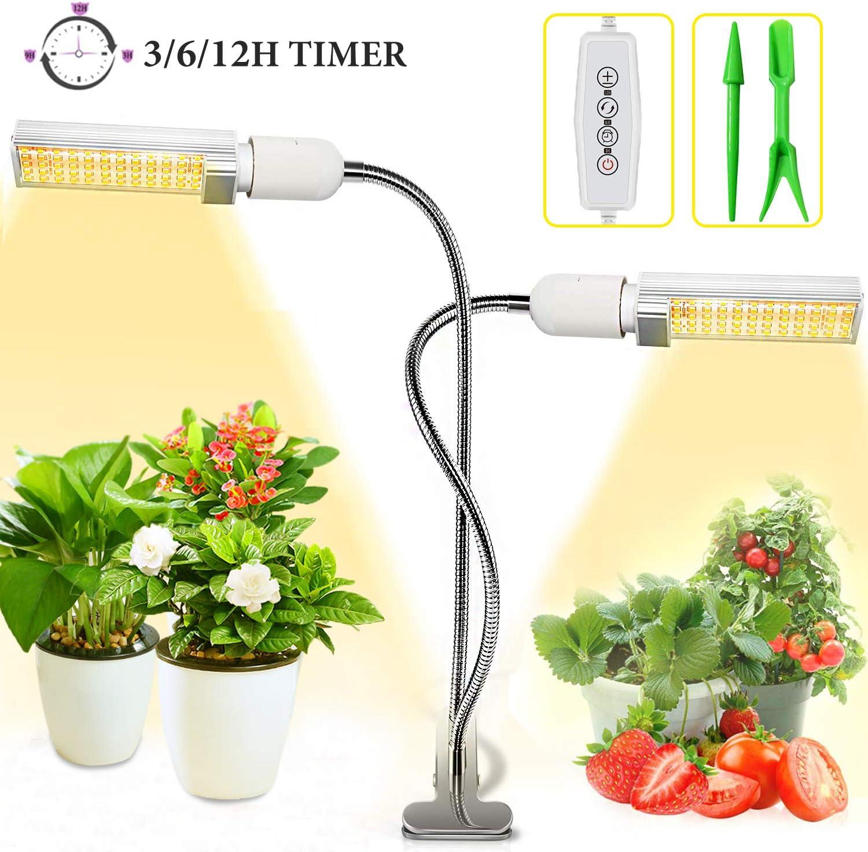 1PC//2PCS LED Plant Grow Light Bulb Sunlike Full Spectrum Lamp for Indoor Plants