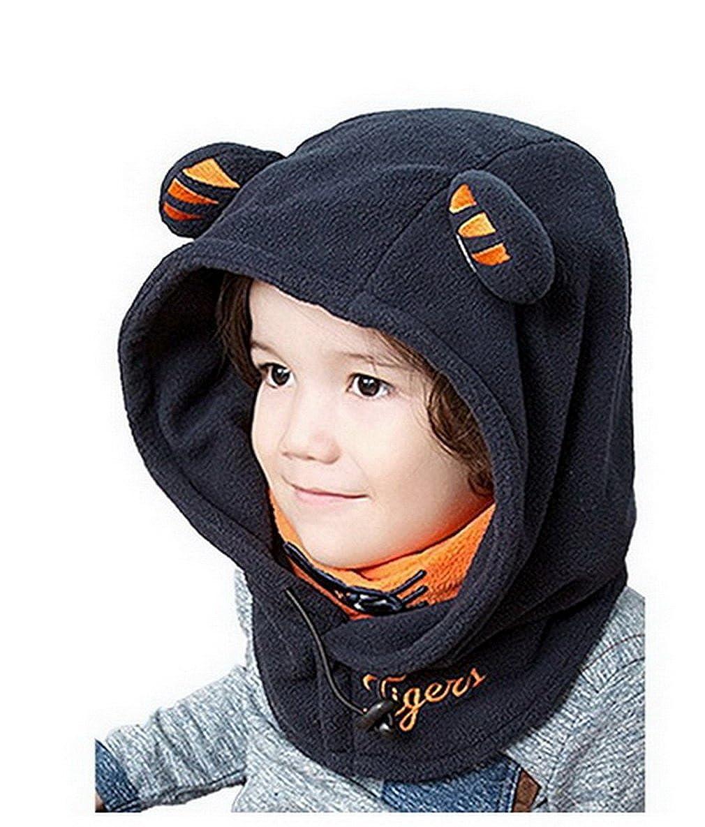 Bigood Children's Winter Thick Warm Windproof Cap Adjustable Face Cover Ski Hat