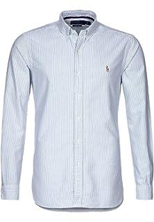 b132cca31ea134 Ralph Lauren Chemise Polo Bleue en Coton piqué pour Homme  Amazon.fr ...