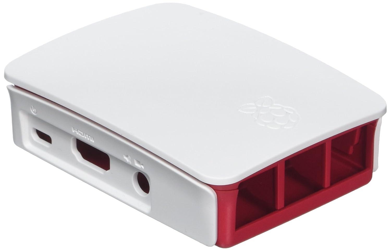 Raspberry 9098132 - Caja de Ordenador, Color Rojo y Blanco
