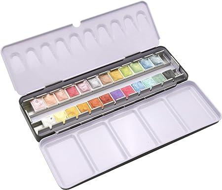 Paintersisters Artist Aquarell colores metálicos - Set de Acuarelas en Medio Recipiente, Acuarela Caja de Pintura, Set de Color Profesional: Amazon.es: Hogar