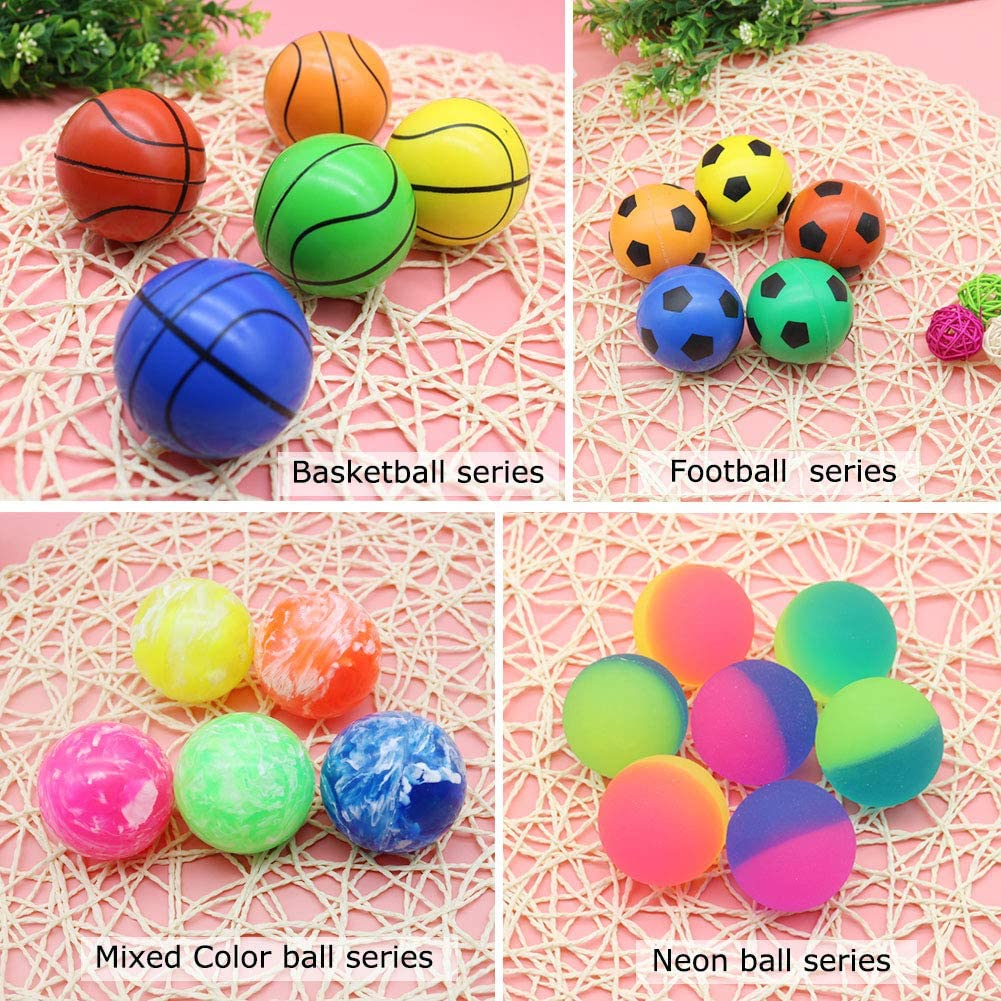 Jatidne 24 Pieces Bouncy Balls Party Favors for Kids Party Bags Fillers Colorful Bouncing Balls for School Prize Festival Gifts 1.1 Inches Diameter: Toys & Games