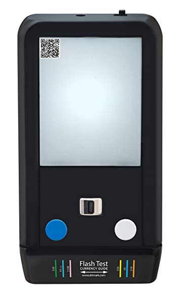 Amazon.com : Dri Mark Flash Test Counterfeit Bill Detector, Smallest, Easiest Money Checker, Fake Currency Detection Machine, Ink, UV, and Watermark ...
