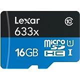 Lexar High-Performance Scheda MicroSDHC da 16 GB, 633x, UHS-I, Adattatore SD Incluso