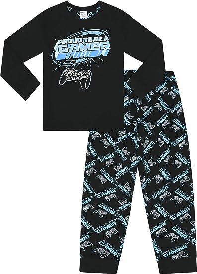 Pijama largo para niño Proud to Be A Gamer, color negro y azul Azul azul 13 años: Amazon.es: Ropa y accesorios