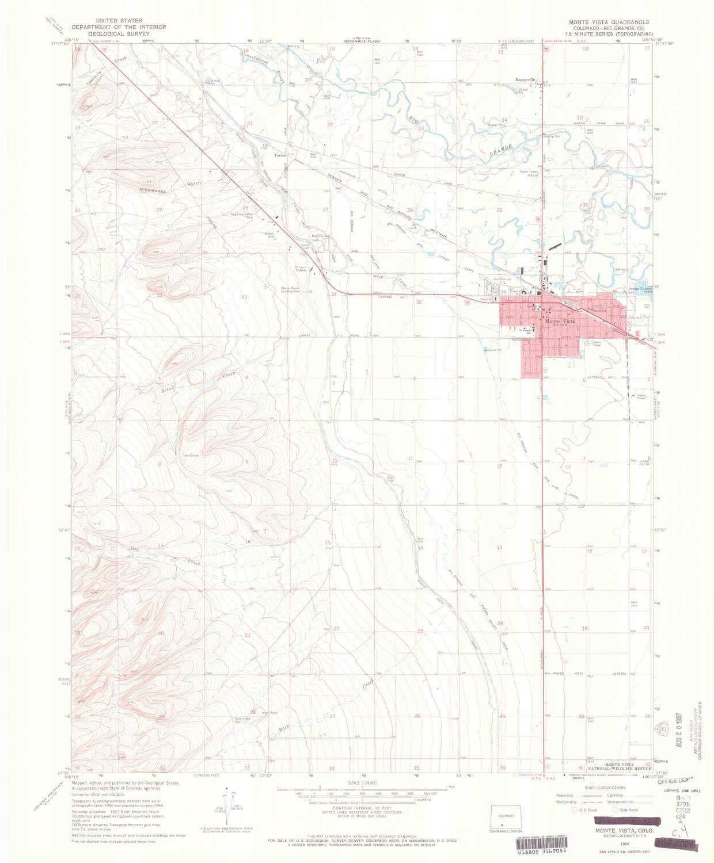 Amazon Com Yellowmaps Monte Vista Co Topo Map 1 24000 Scale 7 5