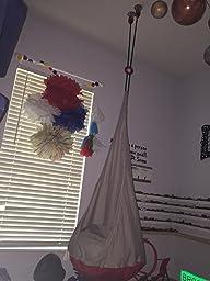 ikea ekorre swing hanging seat hammock silver color sensory swing patio lawn. Black Bedroom Furniture Sets. Home Design Ideas