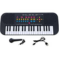 SUPER TOY 37 Key Piano Keyboard Musical Instrument with Recording Function and Mic