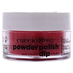 Cuccio Pro Powder Polish Dip - Candy Apple Red - Nail Lacquer for Manicures & Pedicures, Easy & Fast Application/Removal - No LED/UV Light Needed - Non-Toxic, Odorless, Highly Pigmented - 0.5 oz