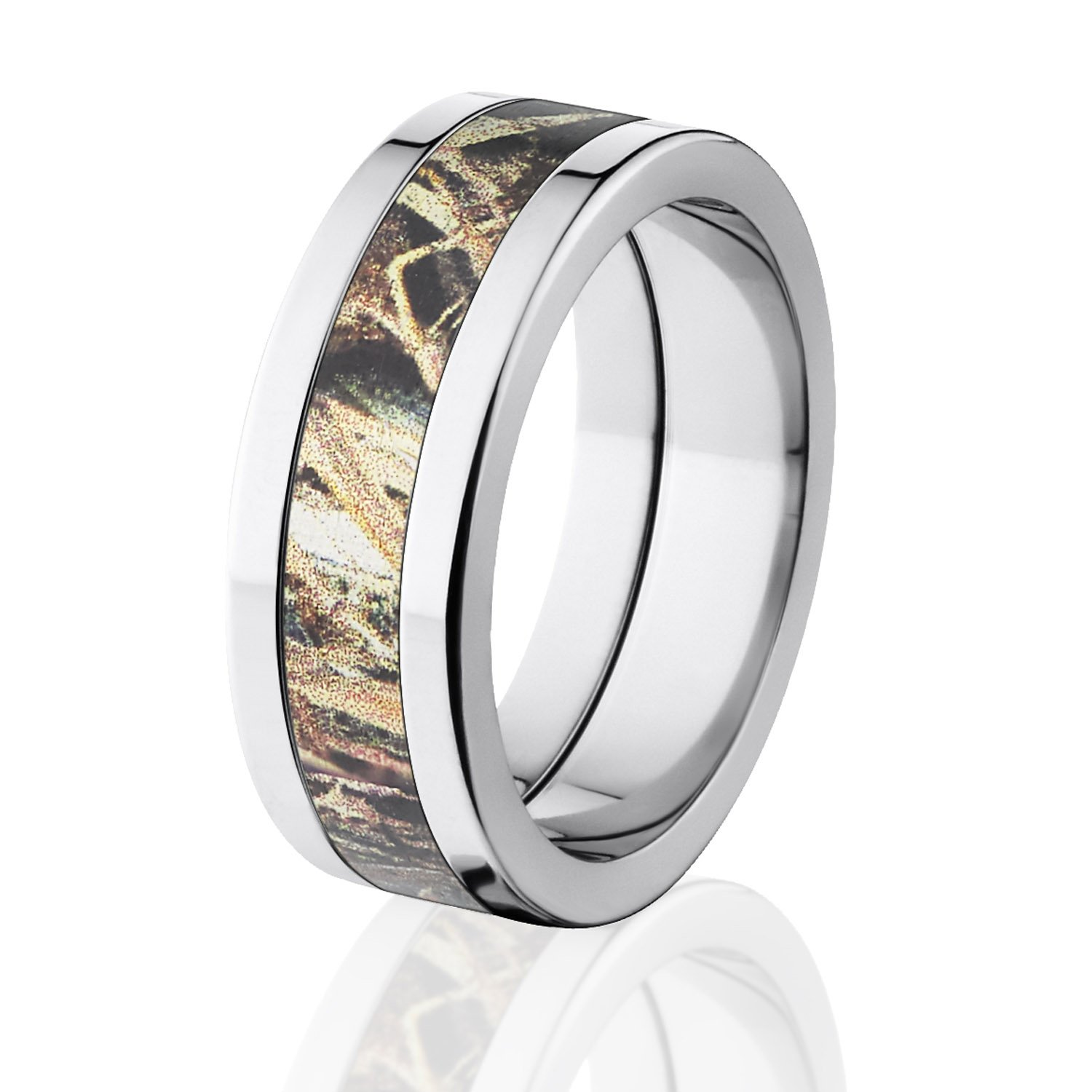 Duck Blind Camo Wedding Rings Mossy Oak Camouflage Bands USA Made