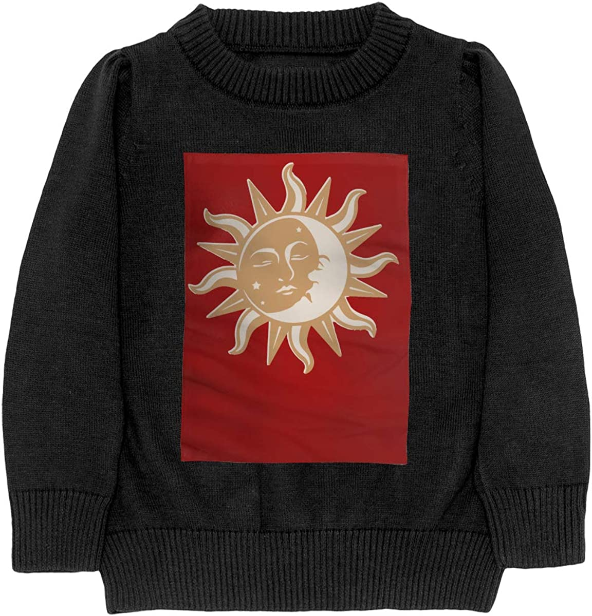 Sun Moon Brown Cool Teenager Boys Girls Unisex Sweater Keep Warm