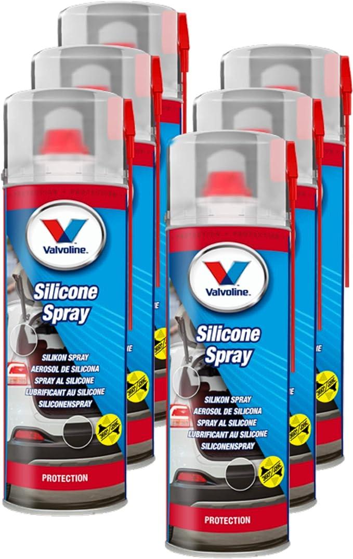 Valvoline 6x Silicone Spray Silicone Lubricant Plastic Rubber Auto