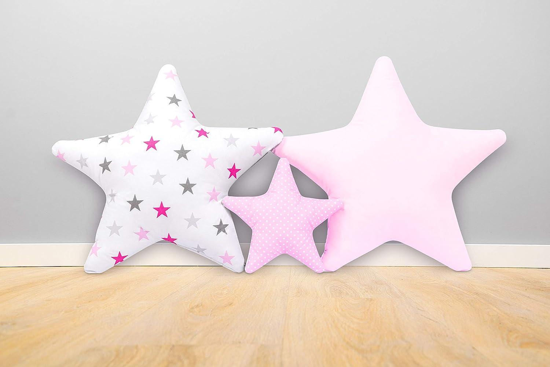 Ami Lian/® Lot de 3/x Coussin /étoile ast/érisque Coussin D/éco kuschlig duveteuse env 60/cm//28/cm SET2
