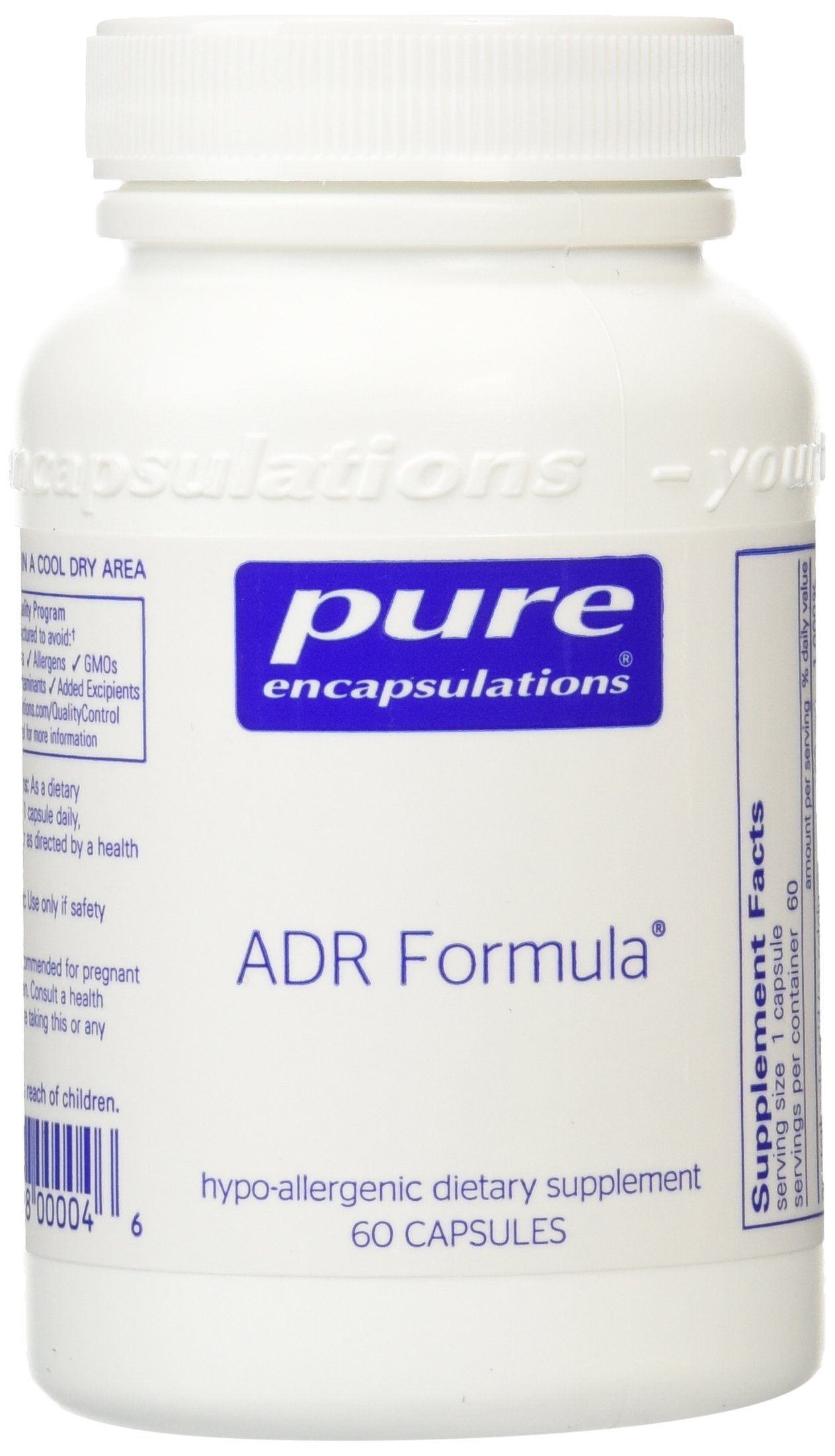 Support for the adrenal glands - Pure Encapsulations - ADR Formula 60 vcaps