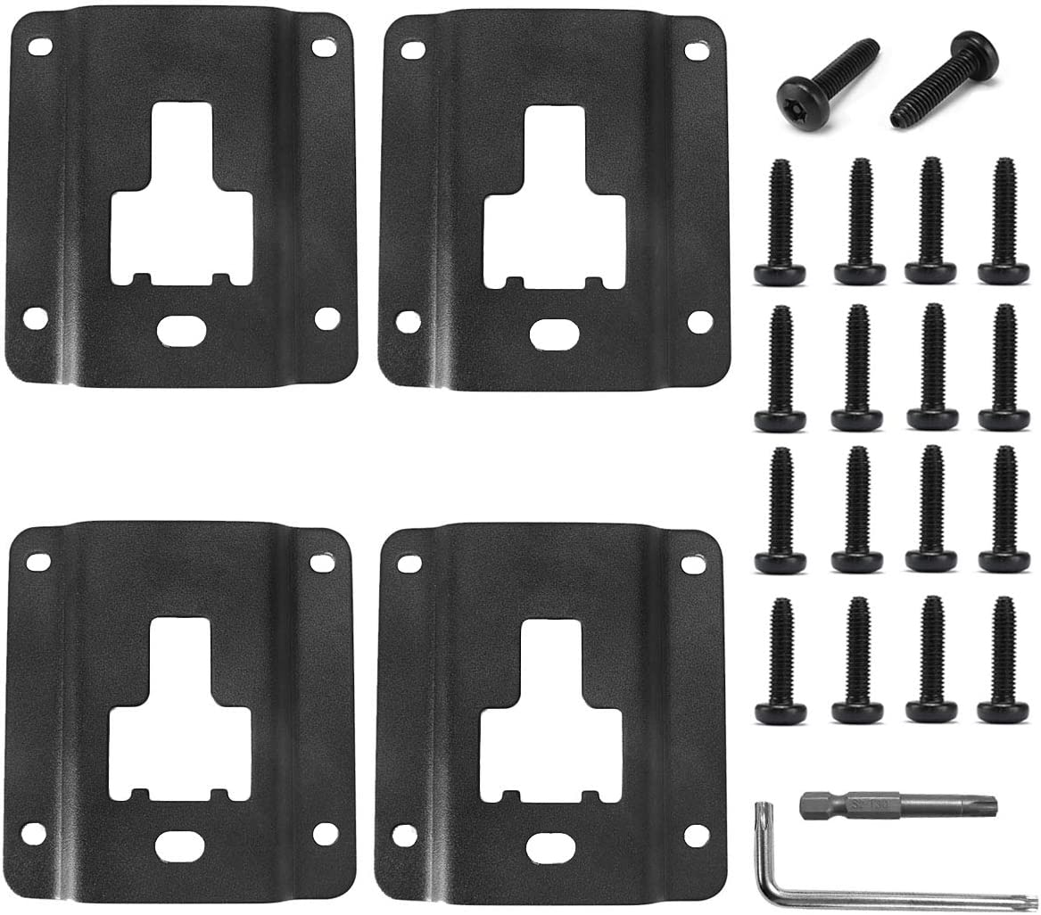 EOTH 4 pcs Truck Bed Cargo Tie Down Brackets Plates for 2015-2020 F150 F250 F350 and Raptor Models Cargo Fixed Anti-Theft Deduction FL3Z-99000A64-B Working Rating 1000 Lbs