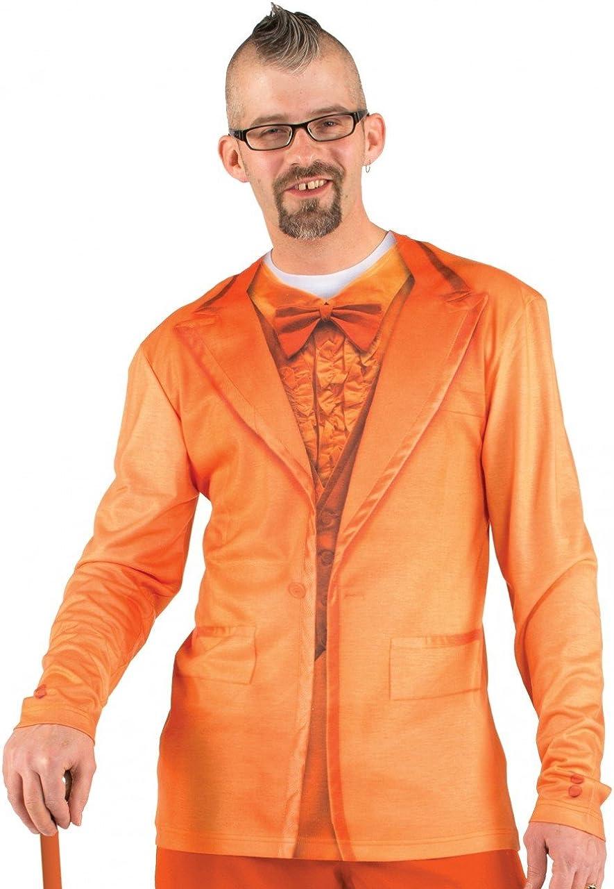 Faux Real Men' 3D Photo-Realistic Long Sleeve Suit T-Shirt