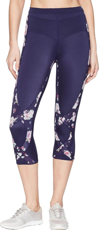 CW-X Women's Mid Rise 3/4 Capri Stabilyx Compression Legging Tights. 125816-P