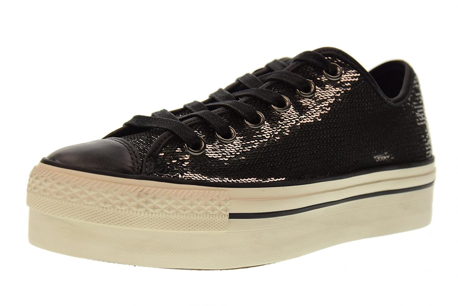 Converse Damen CTAS Ox Platform Sequins Low-top grau