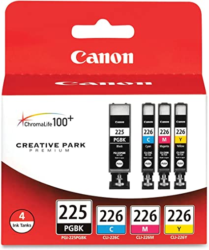CLI-226C PGI-225BK CLI-226Y C,M,Y,K,4 Pack CLI-226M USA Advantage Compatible Ink Cartridge Replacement for Canon 4530B008