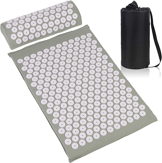 Amazon.com: ESUP Acupressure Mat and Pillow Massage Set for Back, Neck, Headaches Muscle Relaxation,Sciatic Pain Relief and Trigger Point Therapy, Best Mothers Day Gifts (Gray): Health & Personal Care