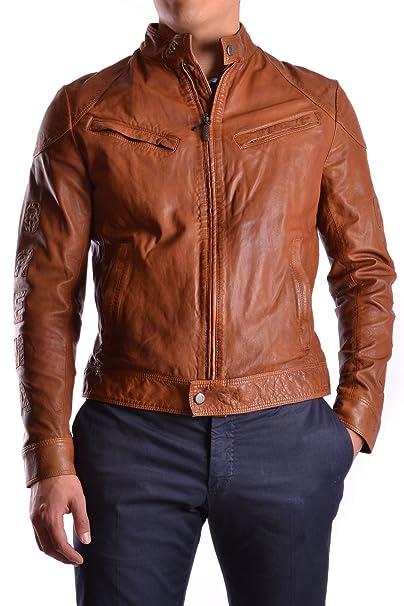 CUOIO 307 Logo BREMA Giacche it Amazon Pelle Abbigliamento Skin 50 IT q1XPBX