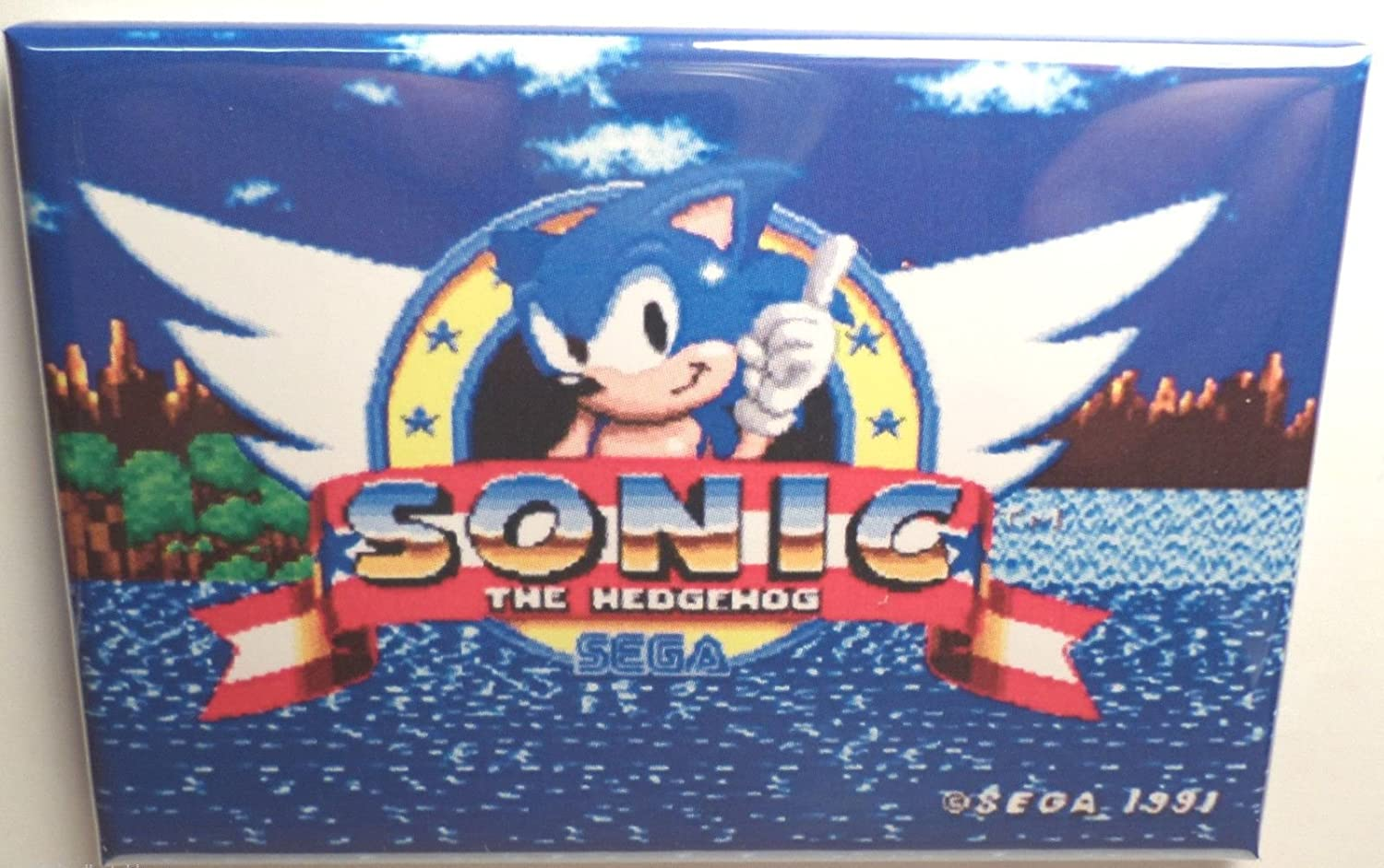 Amazon Com Sonic The Hedgehog Sega Title Screen 2 X 3 Refrigerator Magnet Home Kitchen
