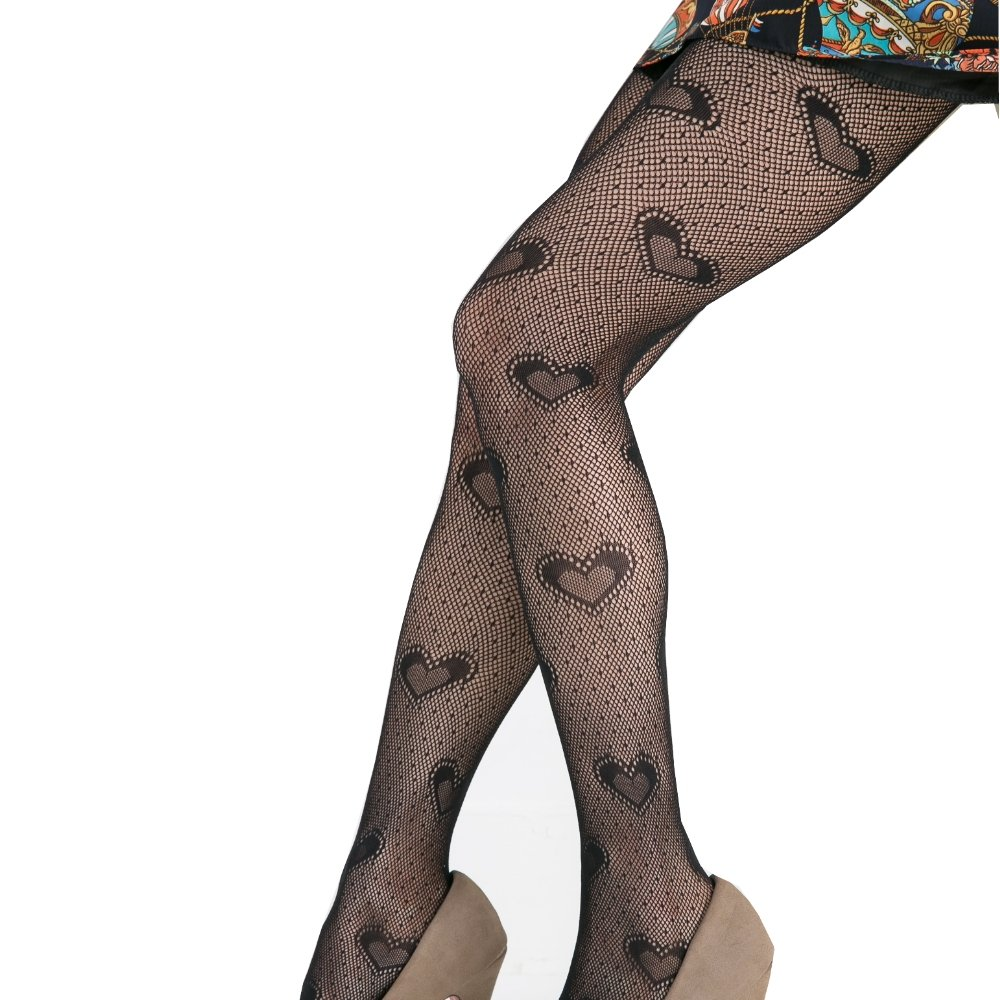 Koolfree Stretchy Seamless Crochet Lace Fishnet Pantyhose Tights