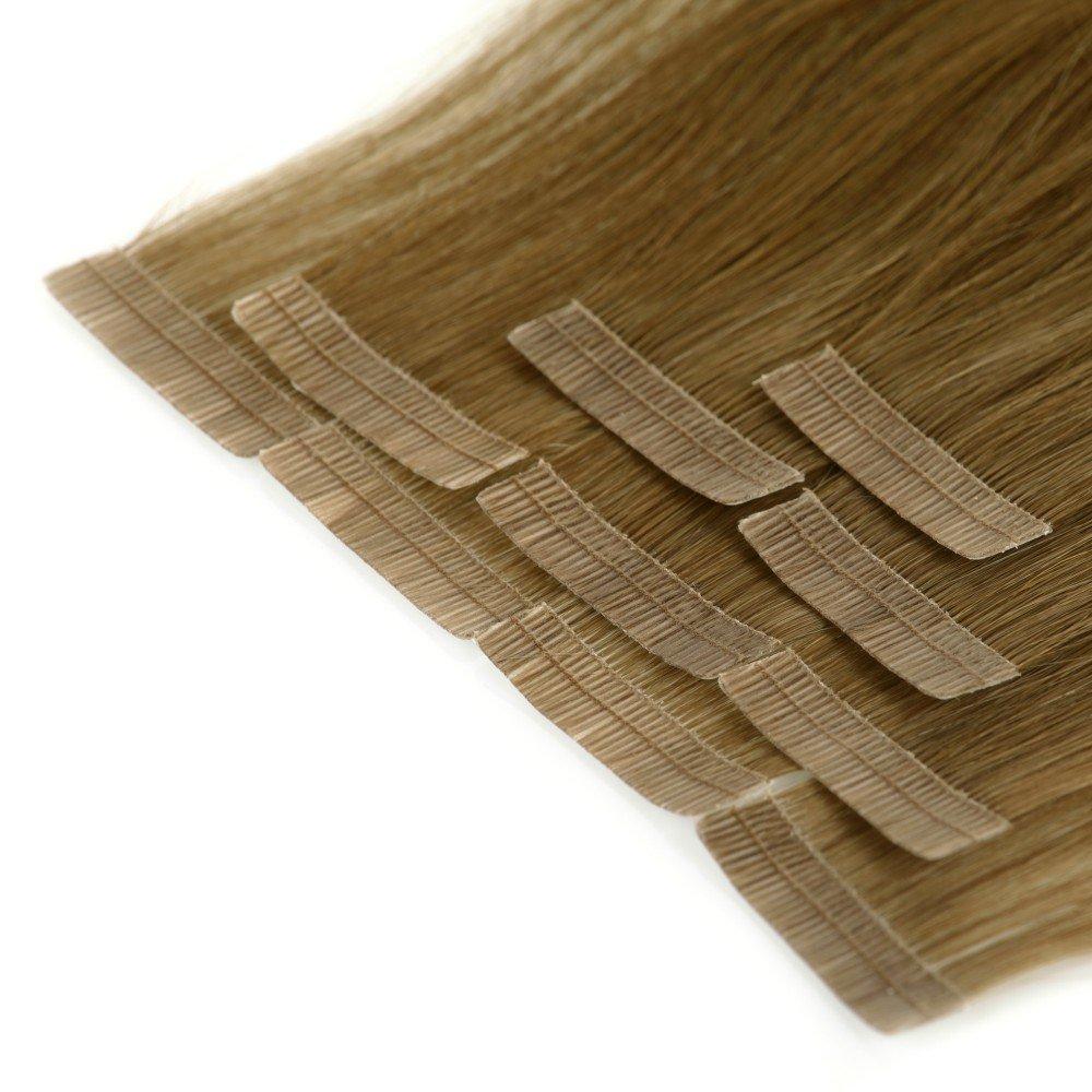 LCP colour blanco y negro products pelo cinta adhesiva en extensiones 30 cm de longitud de piel de - 10 libres de 100% virgen pelo de Remy - protector de ...