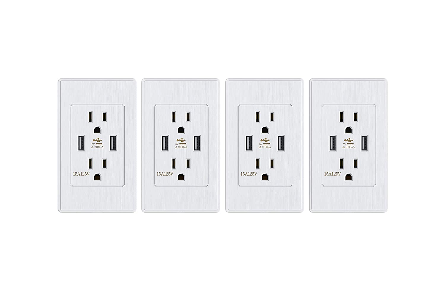 Wall mounted power strip with multiple receptacles
