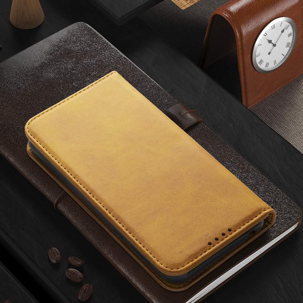 iHOY Funda Redmi Note 8T Carcasa PU Ultra Delgada con Cartera de Estilo Libro Vaquero Protectora de Folio Flip Case para Redmi Note 8T