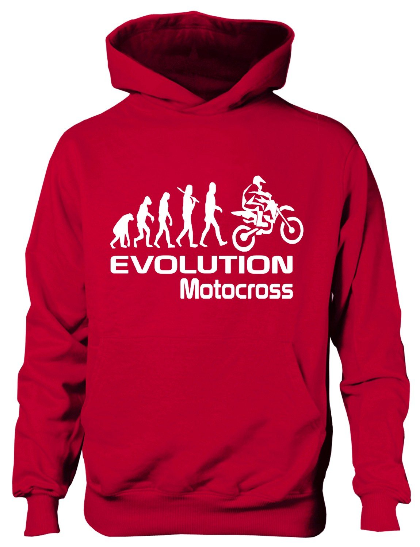 Print4U Evolution of Motocross Motorbike Boys Girls Hoodie Age 5-13