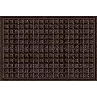 Textures Blocks Entrance Mat, 2-Feet by 3-Feet, Walnut
