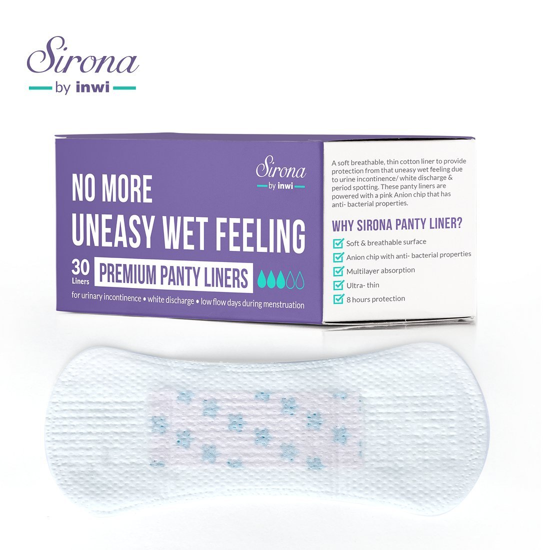 Sirona Ultra Thin Premium Regular Panty Liners - 30 Count product image