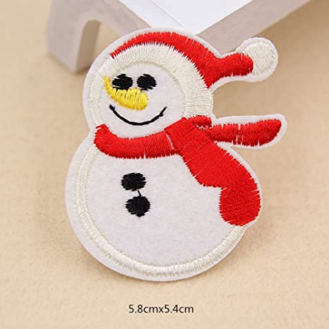 13 x da. WA Navidad bordado Parche para coser en insignia bolsa ropa tejido para DIY diseño: Amazon.es: Hogar
