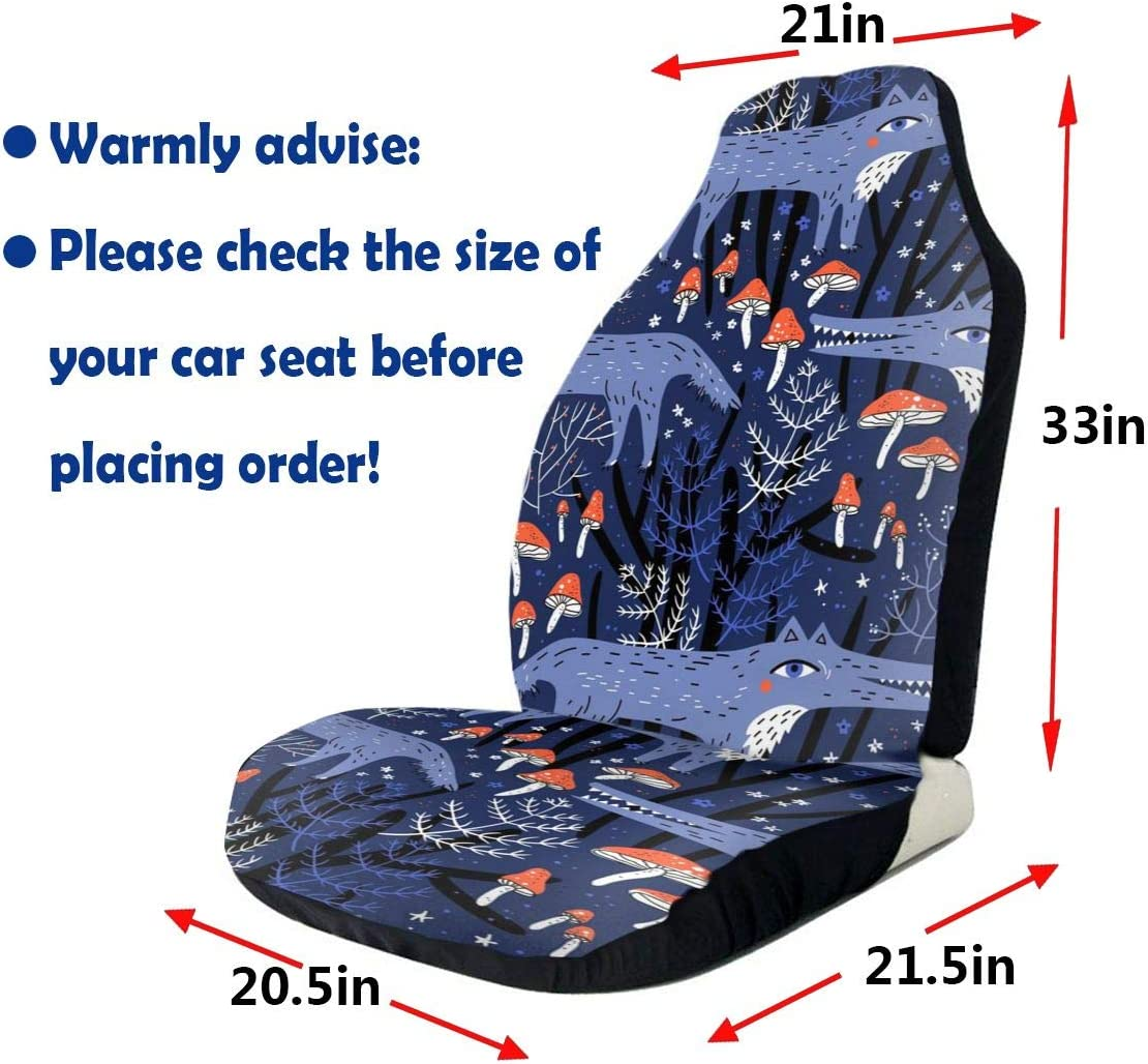 Sedan ACHOGI 2PC Cars Seat Cover 3D Fantasy Landscape with Dinosaur Print Auto Universal Front Bucket Seat Protect Fit Most Vehicle Truck SUV Cars