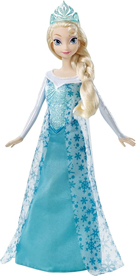Amazon Com Disney Frozen Sparkle Elsa Doll Toys Games