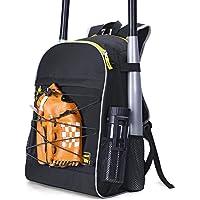 PACEARM Youth Baseball Bat Bag, 2020 Softball Bag & Tball Baseball Equipment Backpack for Boys, Teen, Adults - Hold 2…