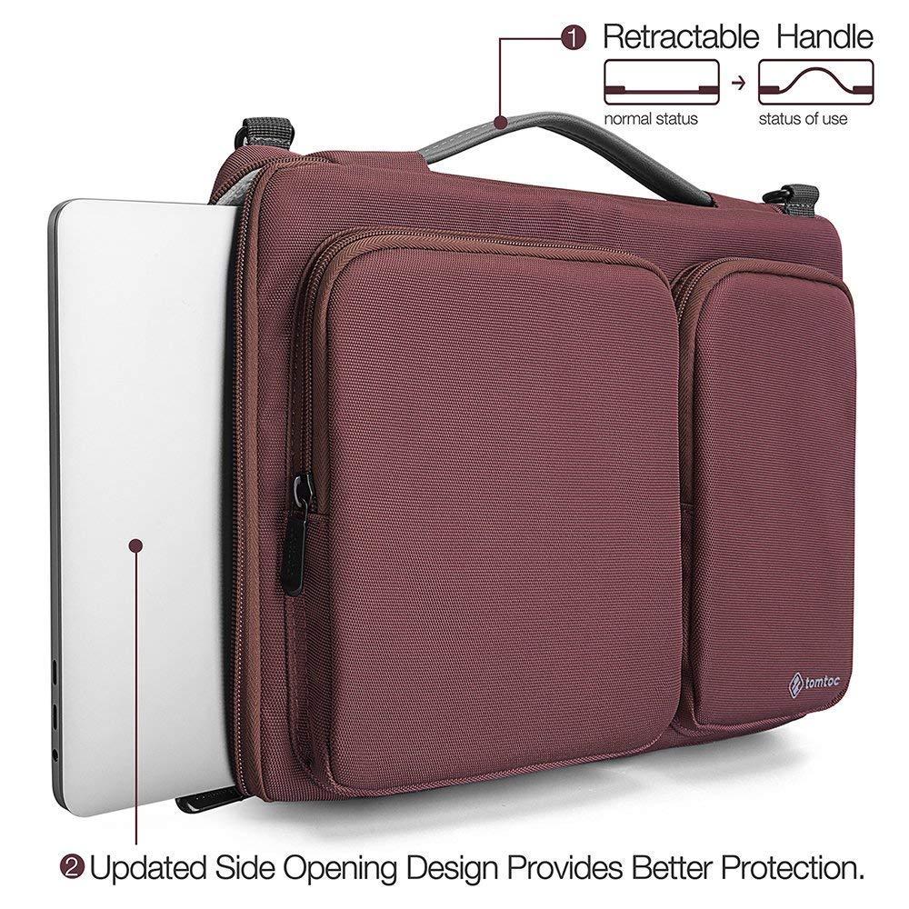 tomtoc 【14 Pouces】 Sacoche Ordinateur Portable pour 15 Pouces Nouveau MacBook Pro Touch Bar A1990 /& A1707 Housse Sac /à Bandouli/ère pour 14 Pouces Chrombook Tablettes