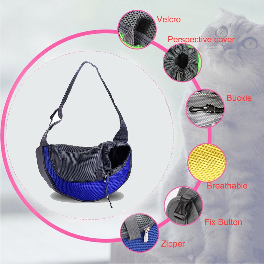Pets Carrier By Guardians Portable Tote Shoulder Bag Outdoor Travel Small Dogs Cats Puppies Backpack with upper zipper design,take out your pets easily