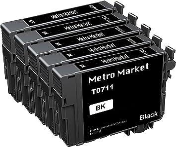 Metro Market 5 Negro para Epson T0711 T0712 T0713 T0714 (T0715 ...