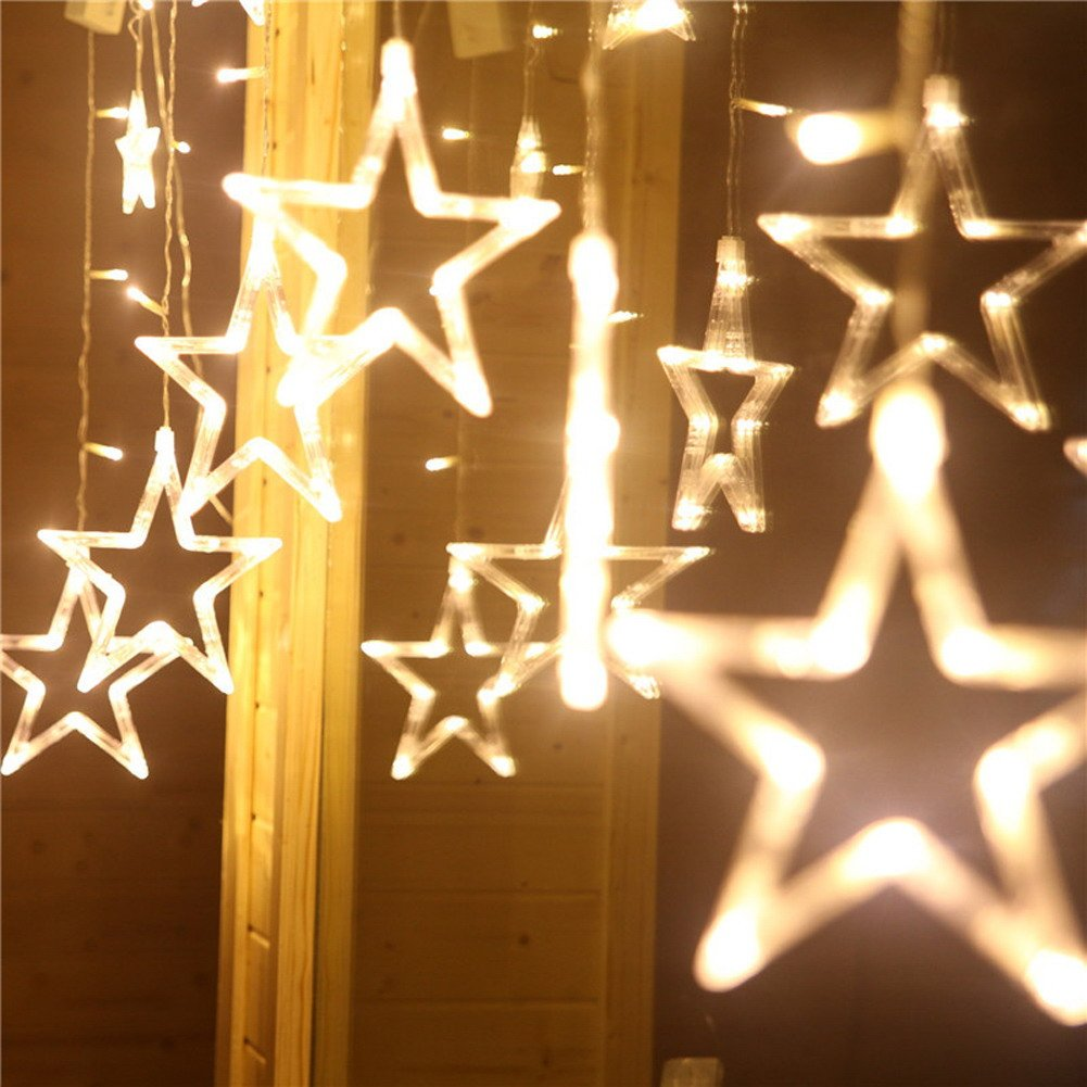 Buy Rrimin Star Curtain Led String Light Warm White Online At Low Wire Christmas Lights Wiring Review Ebooks Prices In India