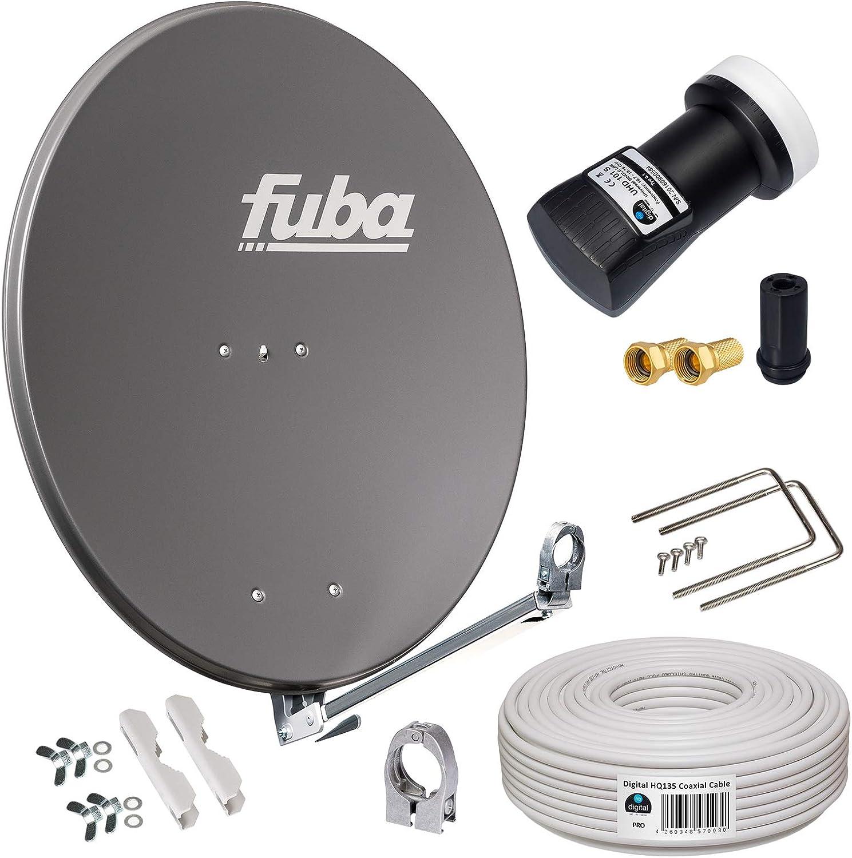 HB-DIGITAL Fuba - Antena parabólica DAL 800A de 80 cm con ...