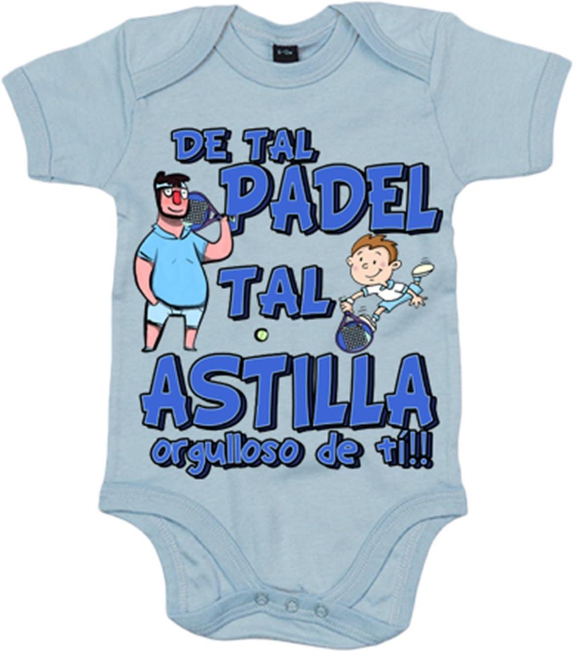 Body bebé padre y niño de tal padel tal astilla orgulloso de ti - Celeste, 6-12 meses