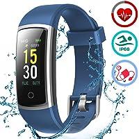 LATEC Pulsera Actividad Inteligente Pulsómetro y Presión Arterial Relojes Deportivos Ejercicio Fitness Impermeable…