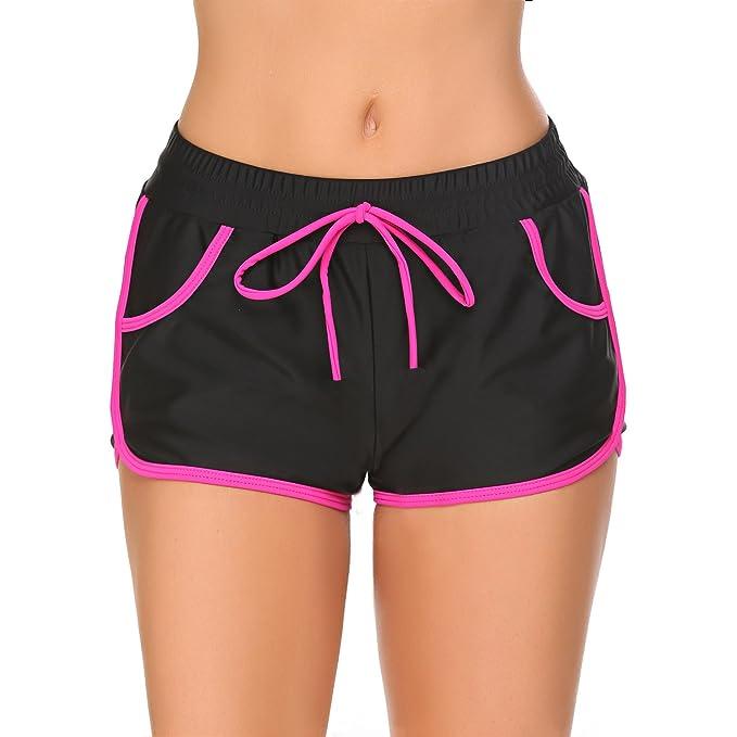 8fada8ede1bf07 Meaneor_Fashion_Origin Badehose Damen Badeshorts Bikinihose Kurz ...