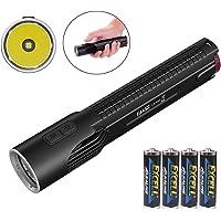 Nitecore EA45S 1000 Lumen CREE XP-L HI V3 LED diecast flashlight/searchlight with 4 X EdisonBright AA Alkaline batteries