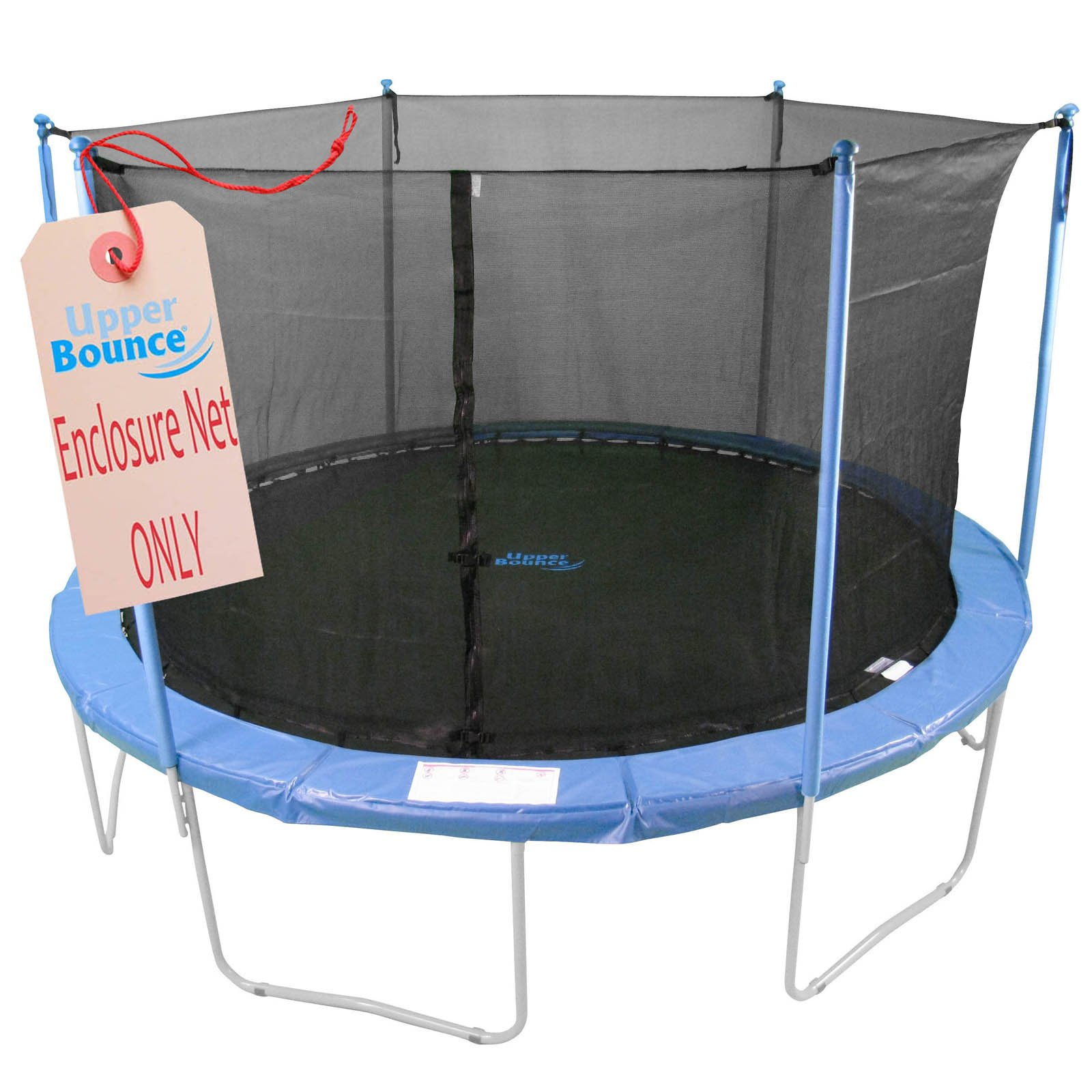 Upper Bounce Trampoline Replacement Enclosure Net, Fits for 7.5 FT. Round Frames, with Adjustable Straps, Using 6 Poles or 3 Arches - Net Only
