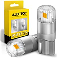 AUXITO 194 LED Bulbs Amber Yellow 168 175 2825 W5W T10 3020SMD LED for Car Dome Map Door Courtesy License Plate Lights…