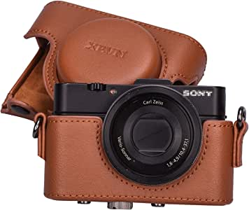 XEVN for Sony rx100 case,for Sony rx100 vi case,dsc-rx100 Mark ii,dsc-rx100 iii.dsc-rx100 iv,dsc-rx100 v RX100 VII m6 5a m3 Protective Leather Camera Case Bag with Camera Shoulder Strap